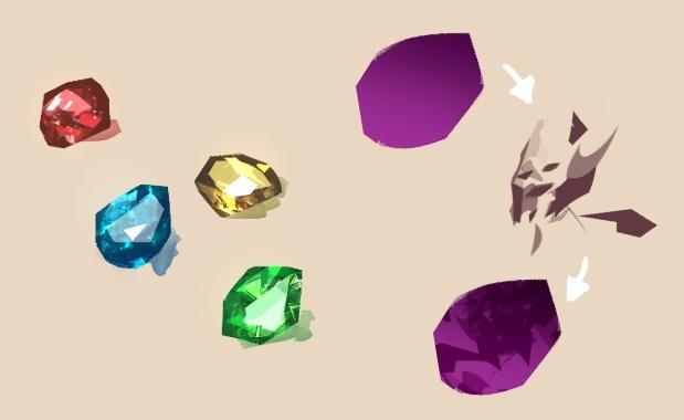 【CLIP STUDIO】宝石の中身ブラシ