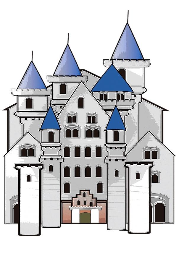 お城とその城内 遊園地ぽい感じです。