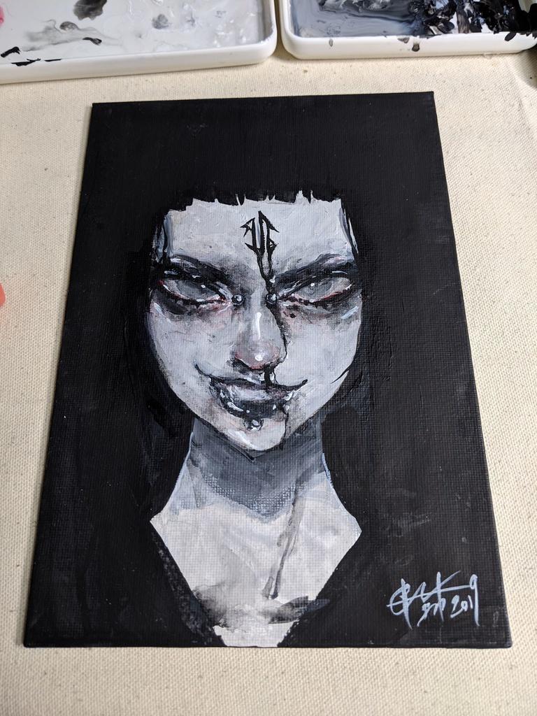 """アクリル原画/SMサイズ/キャンバスボード """"Acrylic Painting"""" SM"""