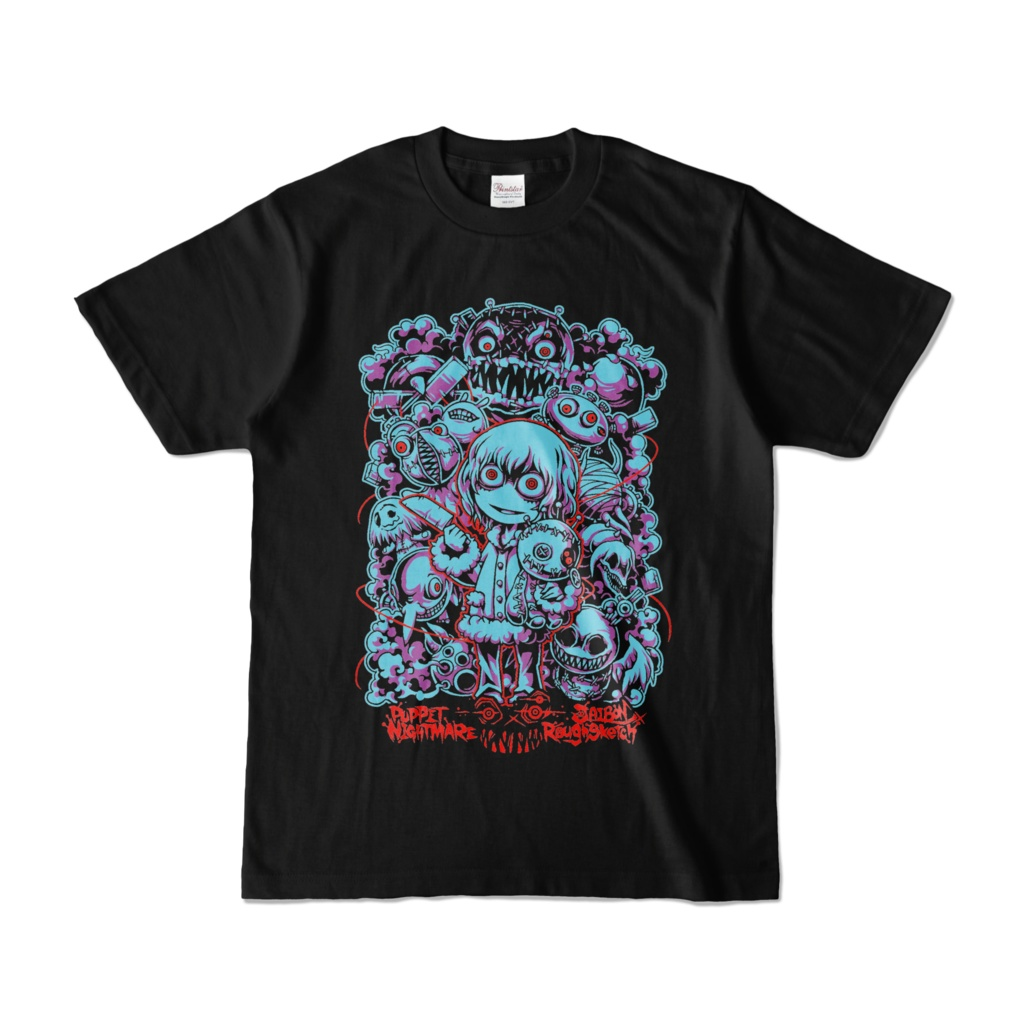 NBSP-023PF_JAIBON×RoughSketchコラボ「PUPPET NIGHTMARE」Tシャツ
