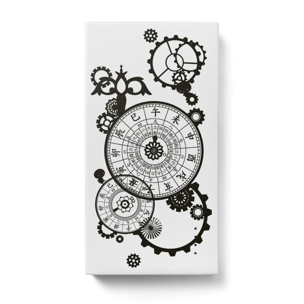 和時計と歯車<白>