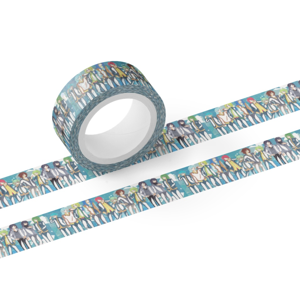 擬人化きかんしゃ(レギュラーきかんしゃ)マスキングテープ  15mm