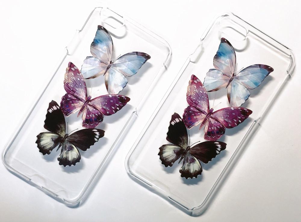 3 Butterflies / iPhoneケース