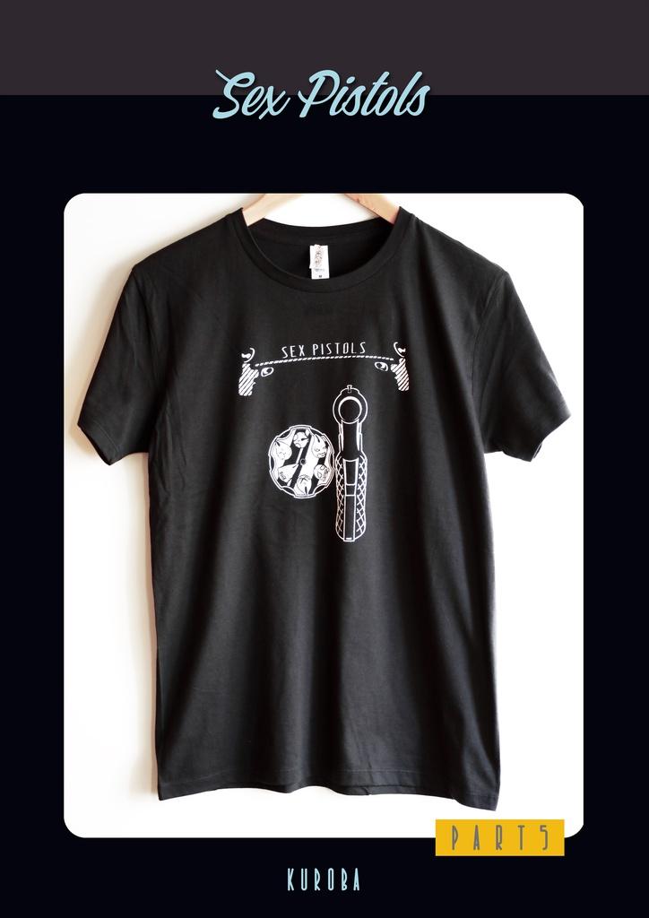 ジョジョの奇妙な冒険 第5部 セックス・ピストルズモチーフTシャツ