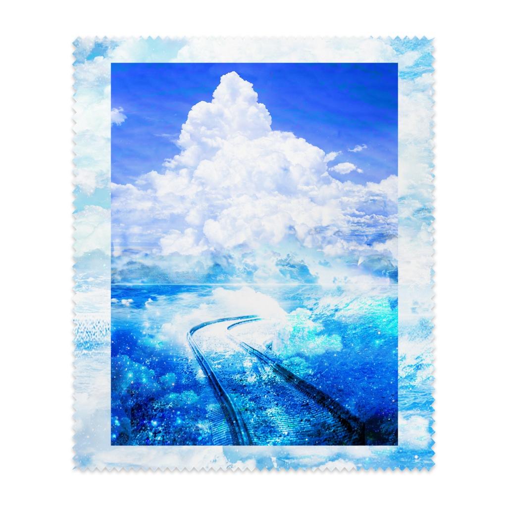 夏の・真ン中・行き〈メガネ拭き〉
