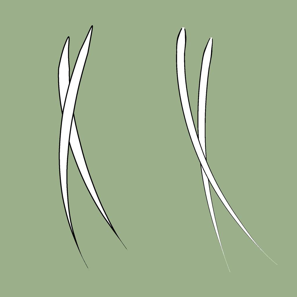 【クリップスタジオ】髪の毛用境界ブラシ二種