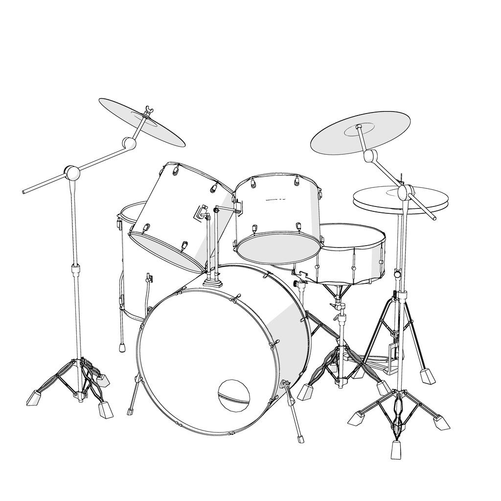 【クリップスタジオ】バンド系楽器セット3D素材