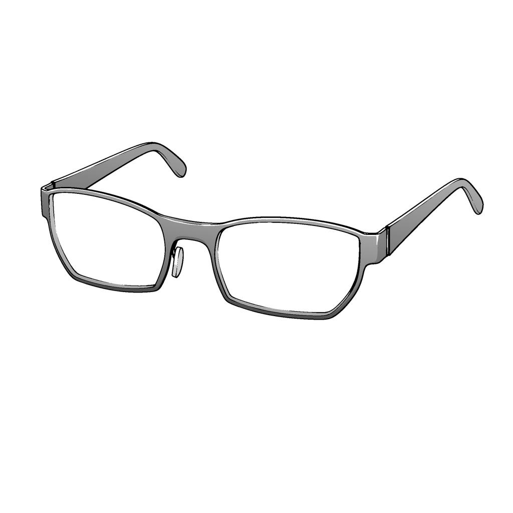 【クリップスタジオ】メガネ3D素材004