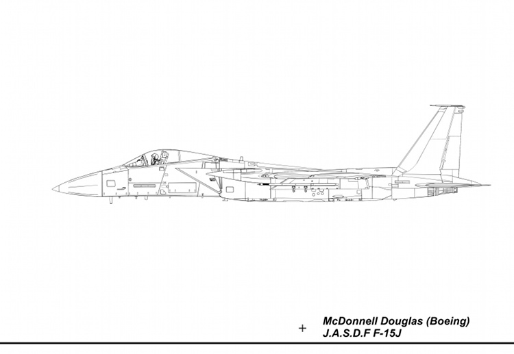 F-15J Blueprint Left