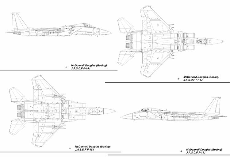 F-15J Blueprint 4 Dimensions