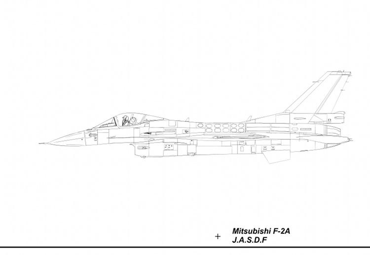 F-2A Blueprint Left