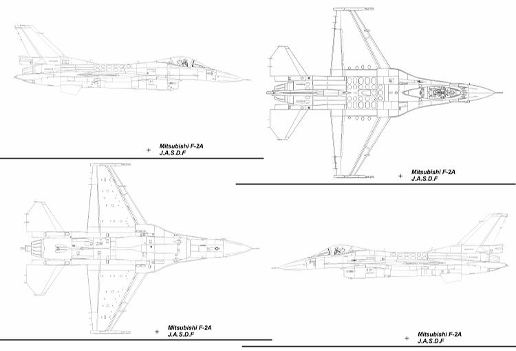 F-2A Blueprint 4 Dimensions
