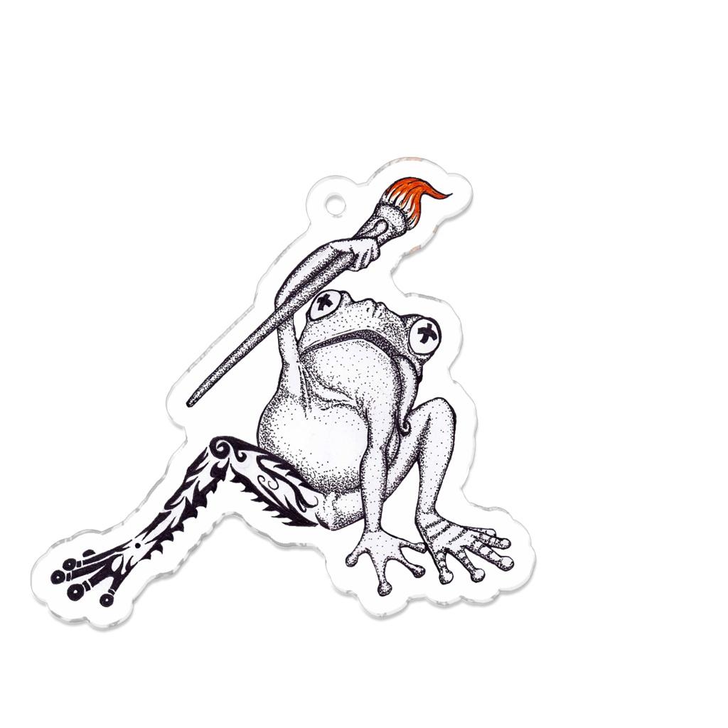 絵を描くカエル