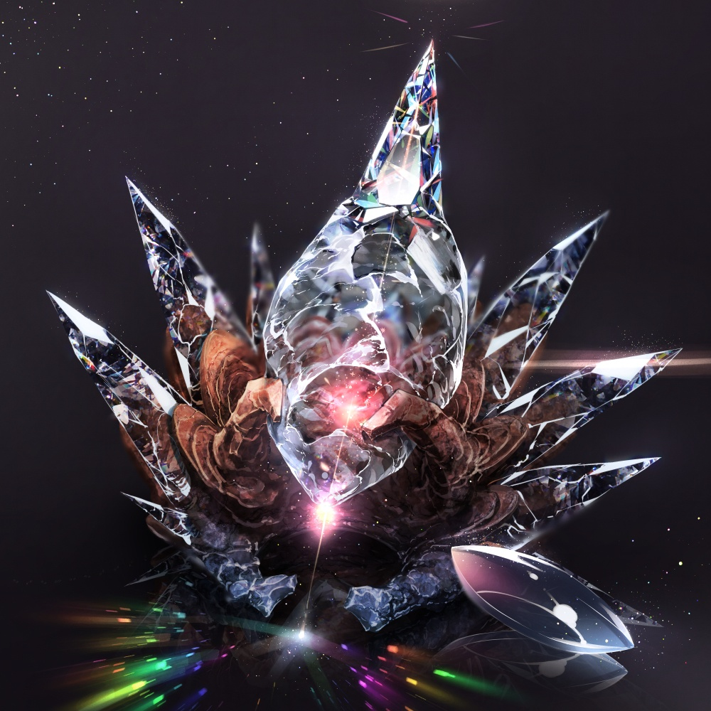 4月の誕生石 ダイアモンド 原寸JPG