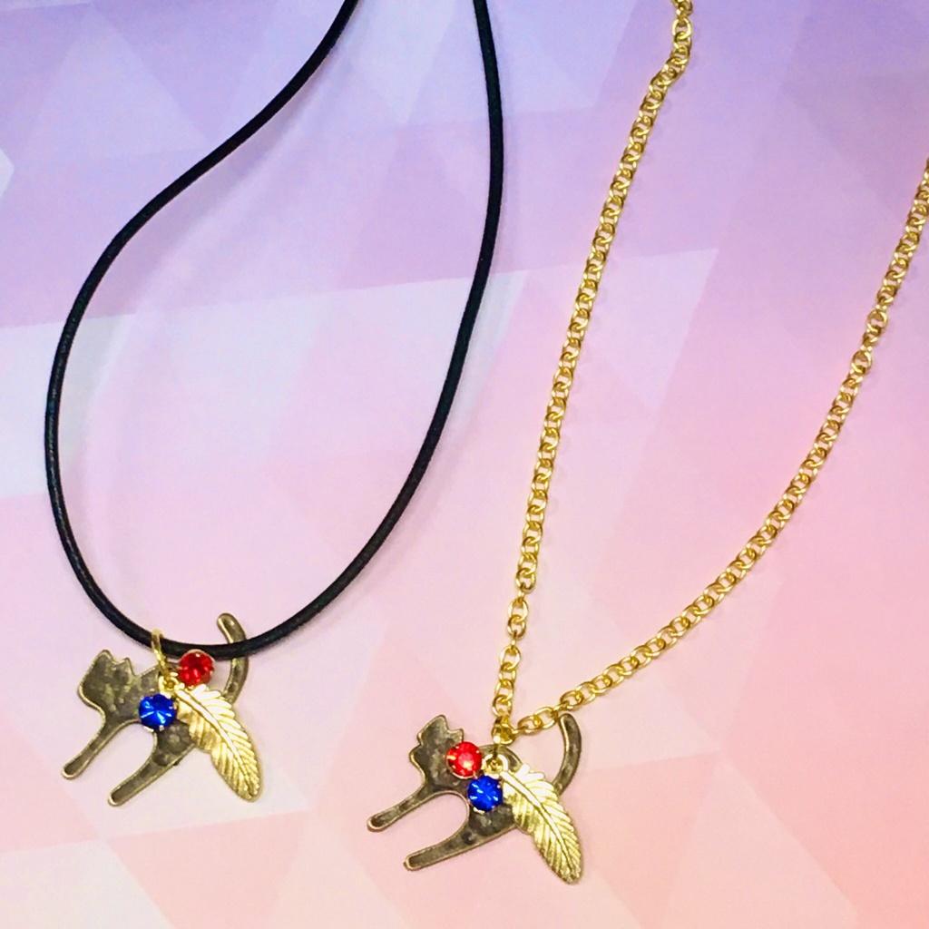 【BONE FISH】山猫と羽根のネックレス(チョーカー)