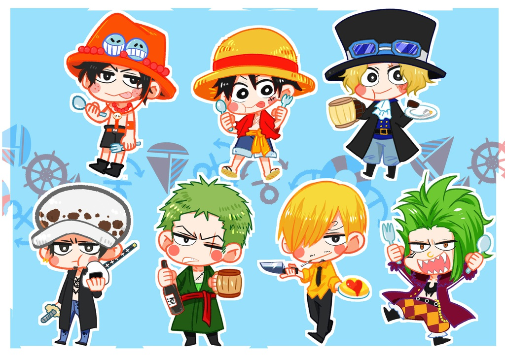 ONE PIECE シール