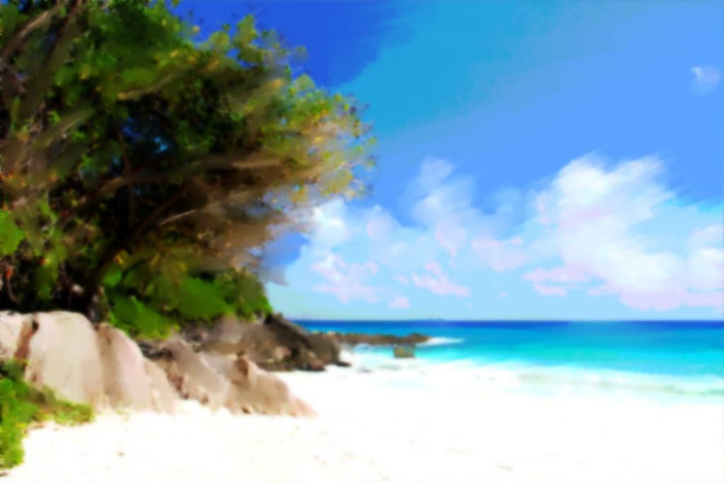 海辺の背景
