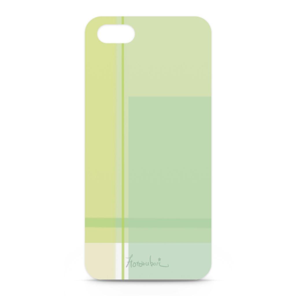 大人シンプルな緑チェックのiPhoneケース