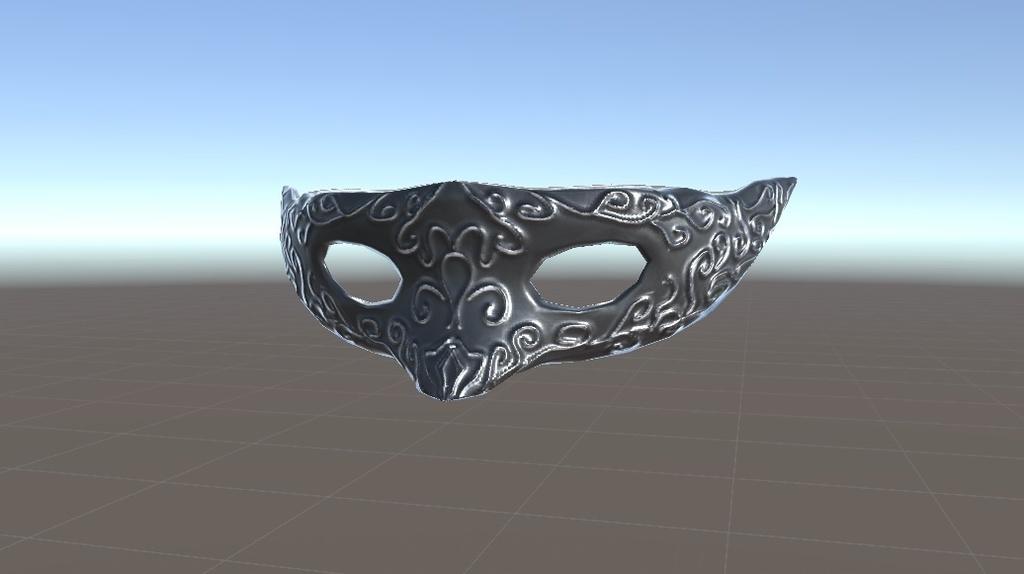 ベネチアンマスク(venetian mask) 【normalmap付】