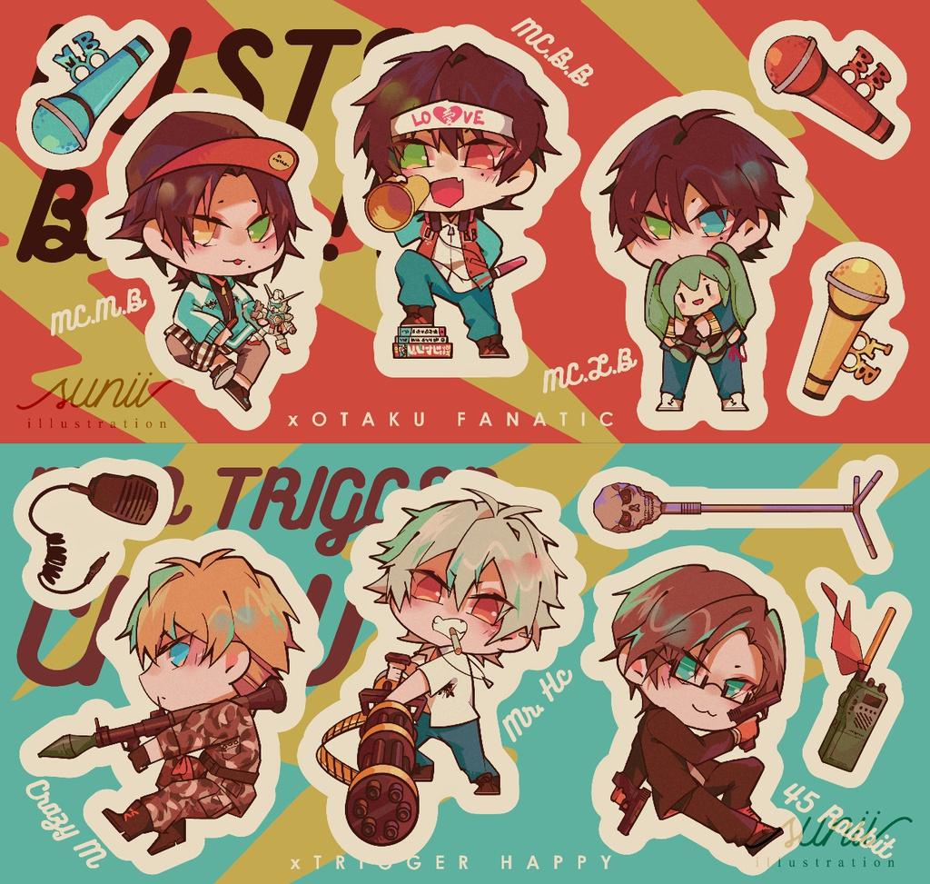 Buster Bros!!! & Mad Trigger Crew ステッカー(カット無し)