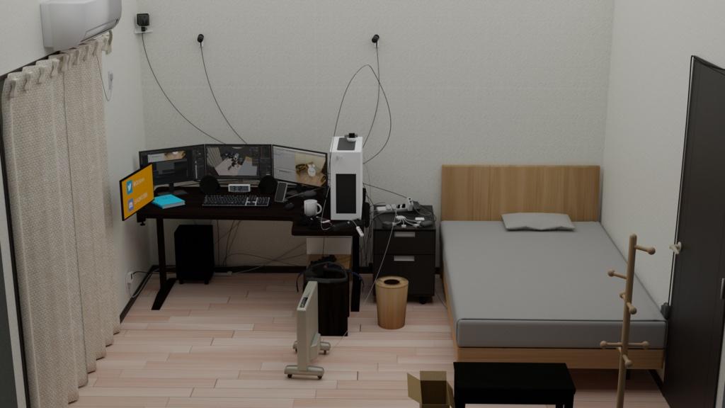 【VRChat】僕のお部屋 [家具セット]