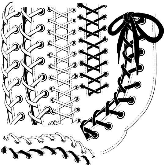 コミスタ・クリスタ用_編み紐ブラシ素材白黒セット