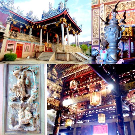 絢爛の中華寺・写真素材