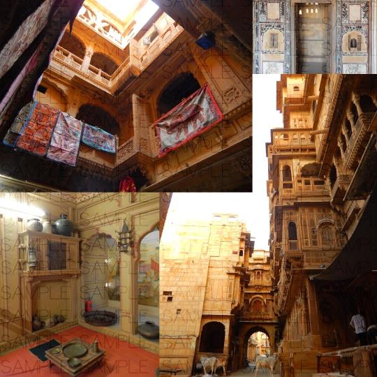 砂漠の貴族邸:写真素材集