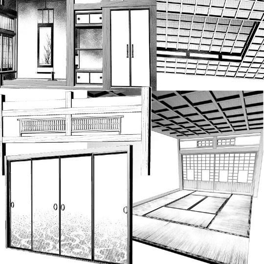 和室3Dパーツ6種セット・コミスタクリスタ兼用素材