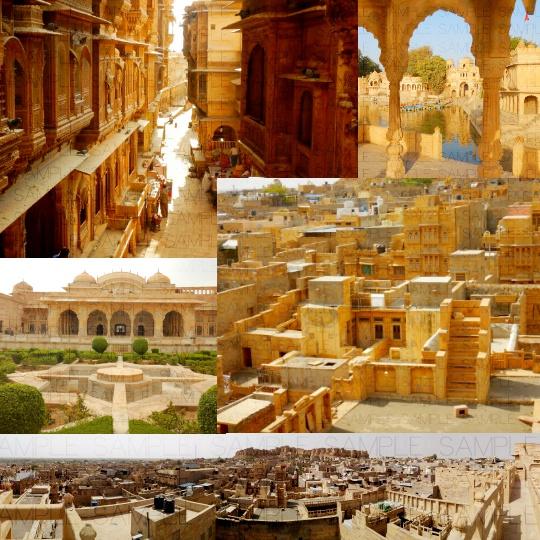 インド砂漠都市:写真素材集セット
