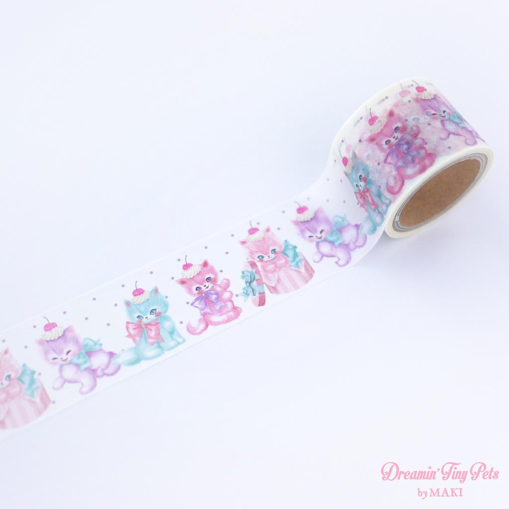 "Cerise × Dreamin' Tiny Pets マスキングテープ ""Sweet Dream Kitten"""