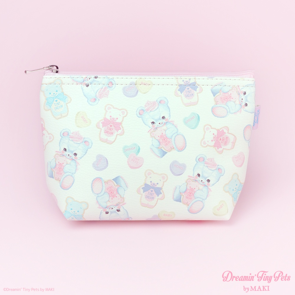 【SALE】ファスナーポーチ [Cookie Bear]