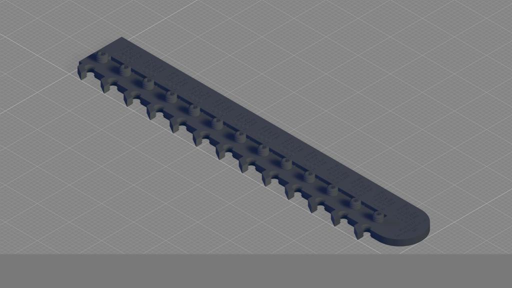 STL: JIS規格ねじはめ式3Dプリンター精度テスター