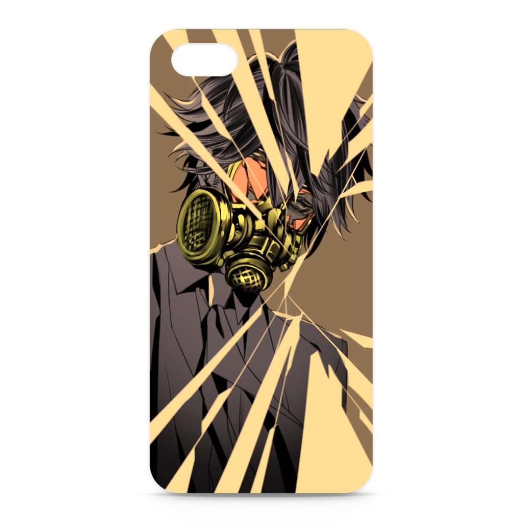 ガスマスク男子004 iPhoneケース
