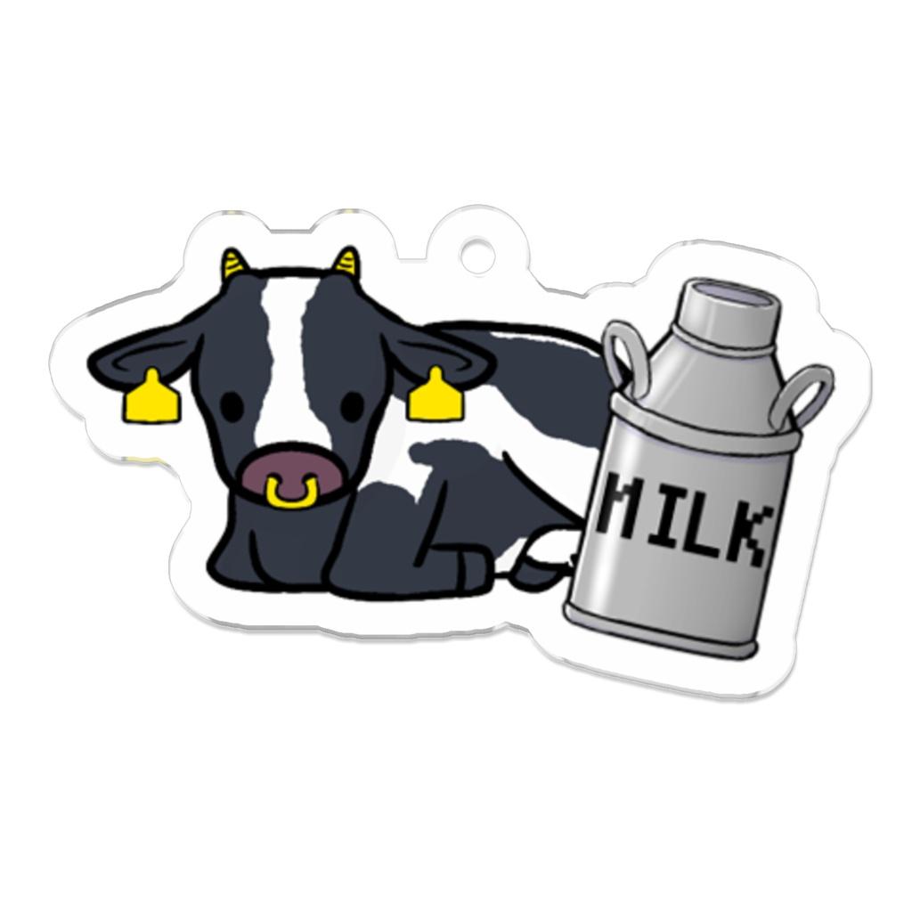 ホルスタインと牛乳缶