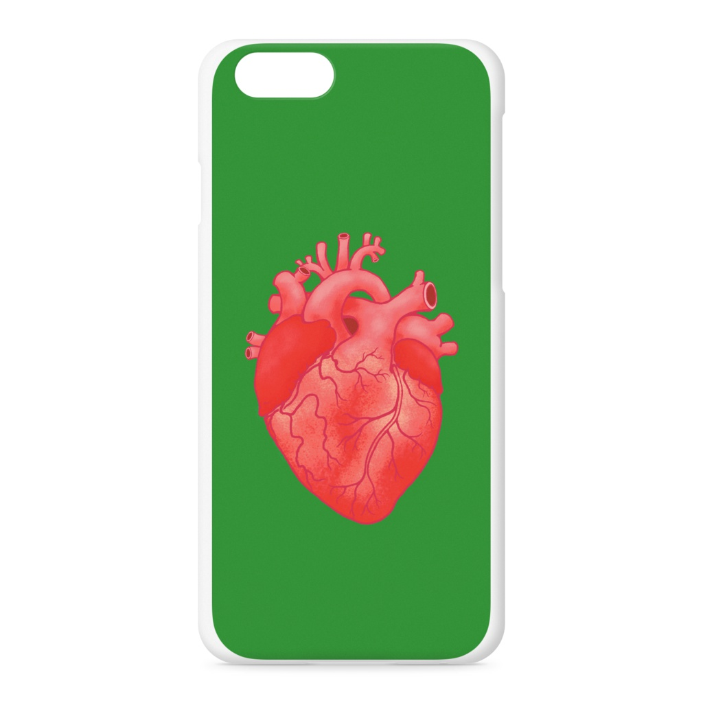 heart(green)iPhoneケース - iPhone 6 / 6s