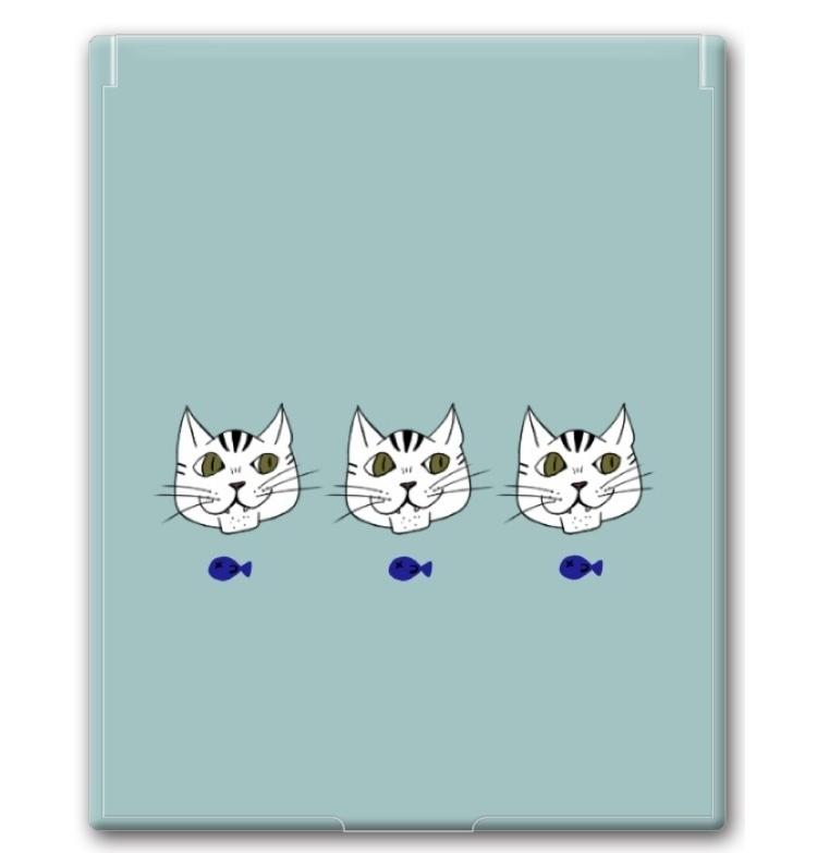 猫と魚ミラー