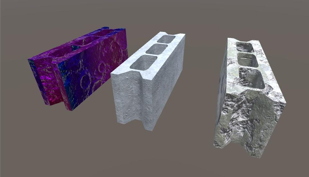 3Dモデル コンクリートブロック