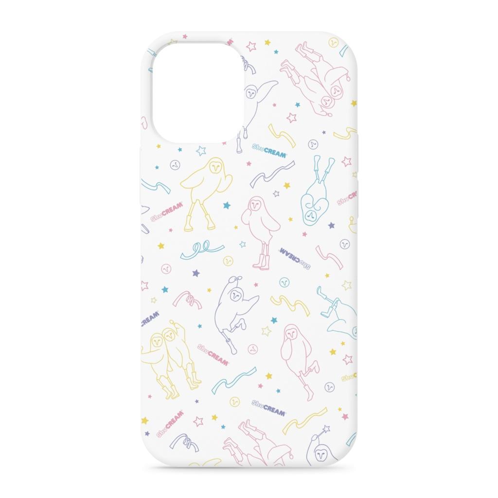 星空のアイドル☆シュ様 iPhoneケース(WHITE)
