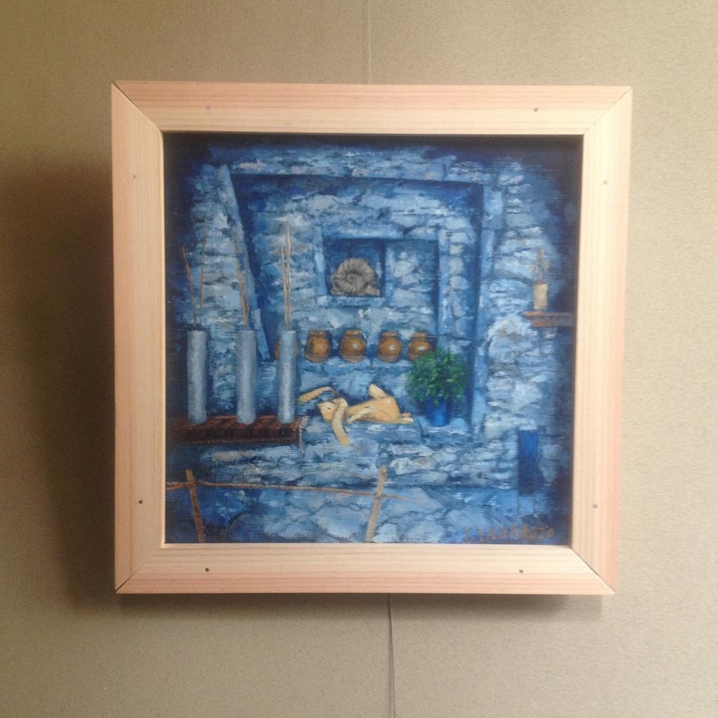 油絵レザーラビット18 古生代