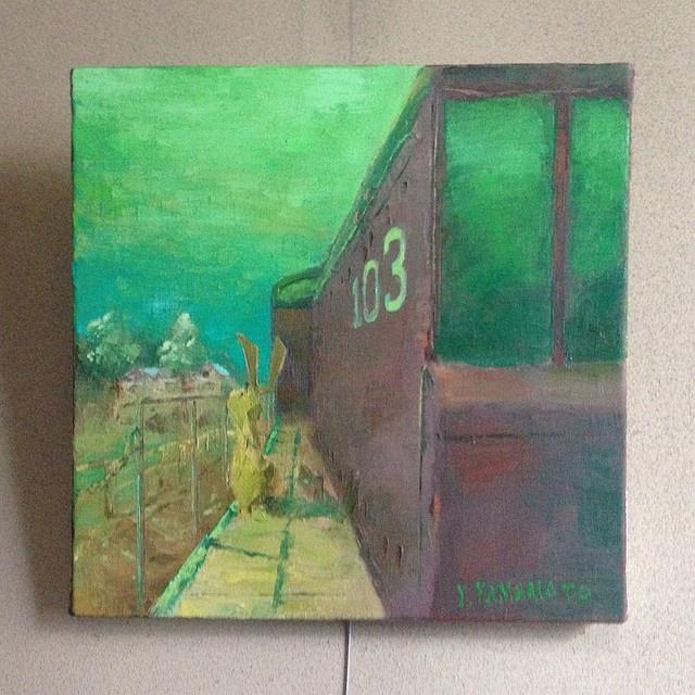 油絵レザーラビット3 エメラルドの旅