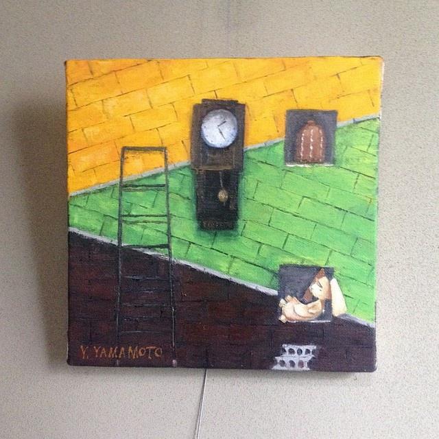 油絵レザーラビット4 大時計