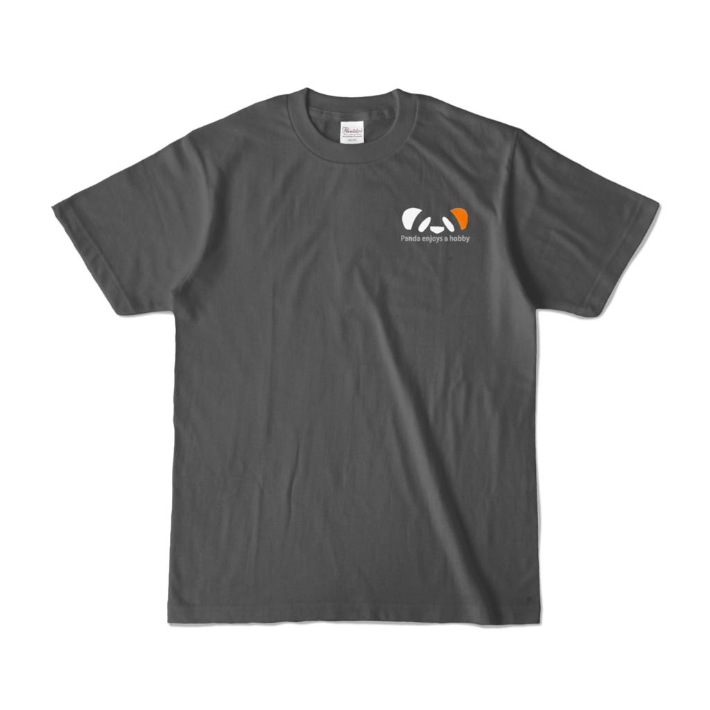 ききょうぱんだTシャツ(チャコール)