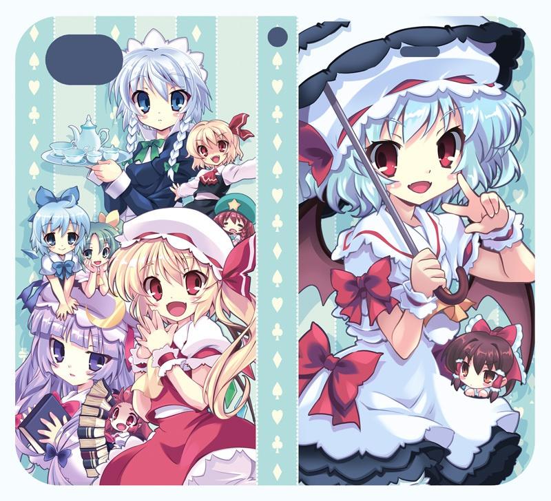手帳型iphone6/7/8対応ケース 紅魔郷Ver