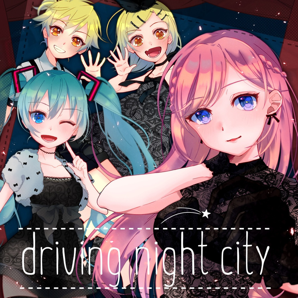 driving night city