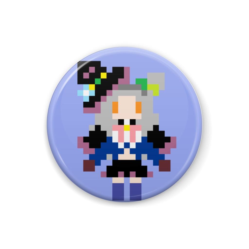 【非公式】紫咲シオン ドット絵缶バッジ【ホロライブ】】