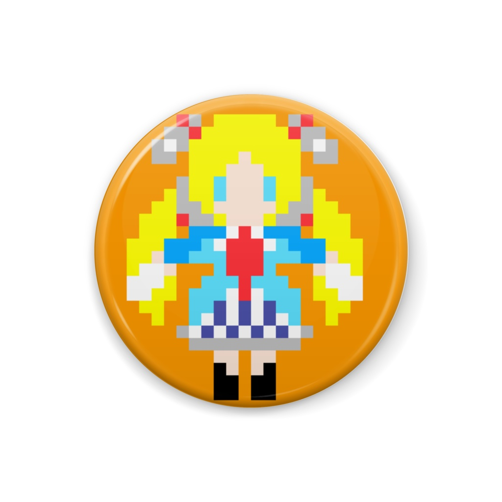 【非公式】アキ・ローゼンタールドット絵缶バッジ【ホロライブ】
