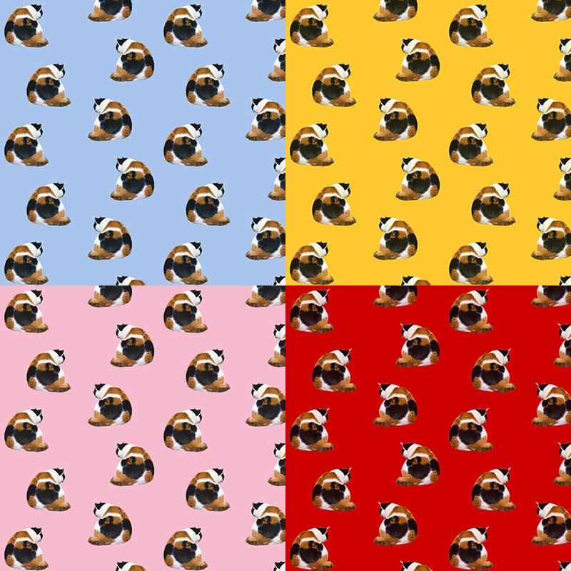 三毛猫の背中壁紙(1920×1920px)4画像セット