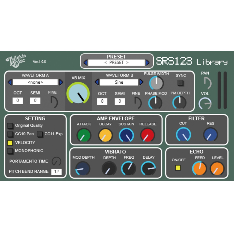 【40%off】SRS123 Library VST AU