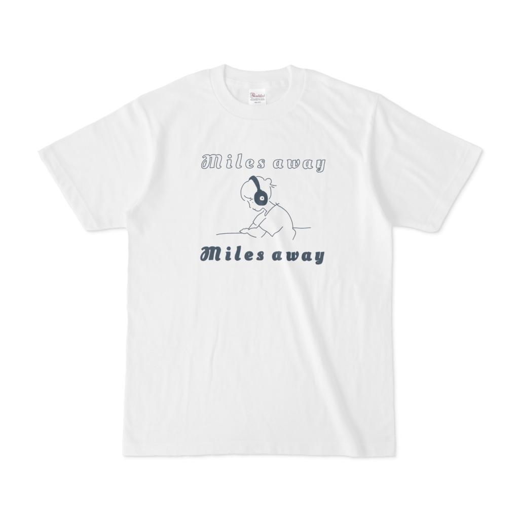 T - shirt :Music: White & Navy